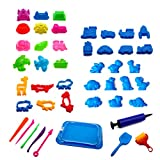 STOBOK Bambini Summer Beach Toys Stampi in plastica Sandbox Toy Playset 45pcs (Colore Casuale)