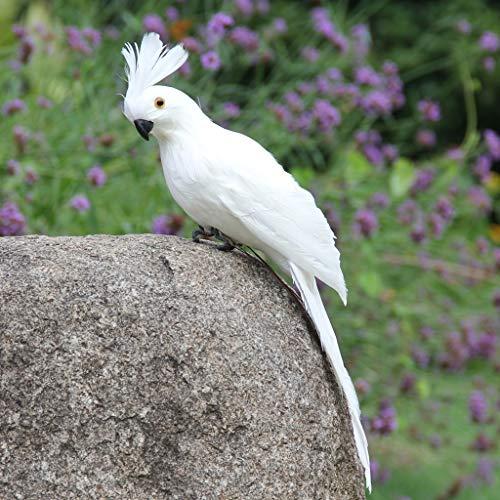 Hahuha , Colorful Fake Parrots Artificial Birds Model Outdoor Home Garden Lawn Tree Decor -