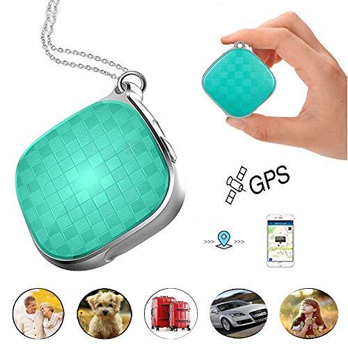Hangang mini micro GPS Tracker per i bambini personal dispositivo di localizzazione localizzatore GPS Prazata A9 GPS WiFi lbs posizionamento 5 giorni standby SOS allarme vocale monitoraggio, GREEN