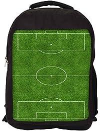 Snoogg Campo De Fútbol mochila mochila escuela viaje Unisex Casual Lienzo Bolsa Bookbag Satchel