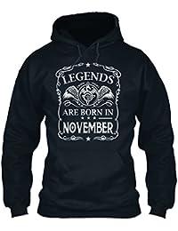 teespring Sudadera con Capucha Hombre - - Legends Are Born IN November.