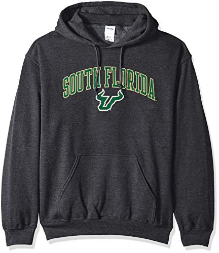 Hoodie Sweatshirt Dark Heather Arch, Herren, NCAA Hoodie Sweatshirt Dark Heather Arch, South Florida Bulls Charcoal, X-Large ()