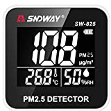 Generic SNDWAY SW-825 Digital Air Quality Monitor Laser PM2.5 Detector Gas Temperature Humidity Monitor Analyzer Diagnostic Health Care Tool One Piece