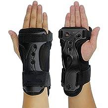 Kingwin rodillo equipo de protección para esquí y snowboard patinaje seguridad muñeca apoyo Brace Guardia (XL, negro)