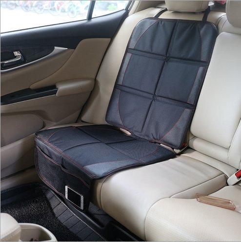 Preisvergleich Produktbild Kinderautositz Schutzunterlage, geeignet auf für Isofix Kinderautositze, schwarz wasserabweisend / Autositzschoner / Sitzschutz Auto Kinder / Autositz-Unterlage (2 psc)