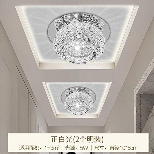 LIYJG Einfache und warme Kristall Deckenleuchte kreative Wohnzimmer Esszimmer Schlafzimmer Balkon Gang Tischlampe, 2 Sets Led - Ist weißes Licht (Oberflächenmontage) (Für Oberflächenmontage 2-licht)