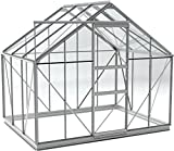Simplicity SUN 8x6 Greenhouse With Horticultural glass and Metal base (Silver, 8ft3 wide (2530mm) x 6ft3 long (1910mm))