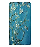 Vertily Leather Sheath Tri-Fold Painting Ultra-Thin Smart Cover Stand Case for Huawei Honor 5/T5 8Inch Slim Shell Case Full Body Protective Case Dust-Proof Collision Magnetic Leather Cover Case