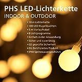 PHS LED Lichterkette warmweiß für Innenräume und...