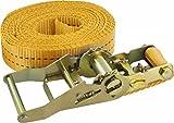 Correa Triuso - 6m - 35 millimeter - 2000 kg gris-con tensor correa BST cinturón de seguridad para carga correas de carga correas de fijación
