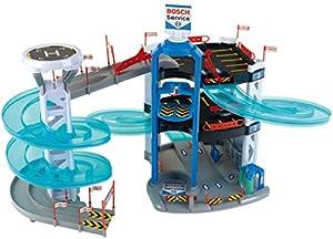 Theo Klein-2809 Bosch car service garaje con 3 plantas y torre con cambio de carril, juguete, Multicolor (Klein 2809)