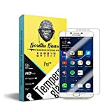 Gorilla guard's PRO++ series tempered glass for Samsung C7 Pro with HD+ ultra clear edge to edge 9H hardness, UV protect & anti-smudge technology TEMPERED glass phone protector (04-Sam-C7-Pro-p++)