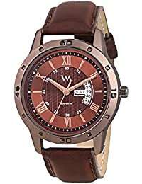 Watch Me Day Date Collection Brown Dial Brown Leather Strap Watch For Men And Boys DDWM-032 DDWM-032rto2