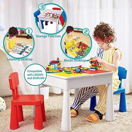 KUBLO Kids - Juego Mesa 2 sillas Multiusos 5 1 Construir