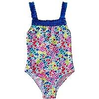 Liuzecai Trajes de baño Lindo Niñas baño de una Pieza del Traje de baño Traje de baño de la impresión Linda del bebé del Bikini Ropa de Playa para Las niñas Niños (Color : Blue, Size : L)