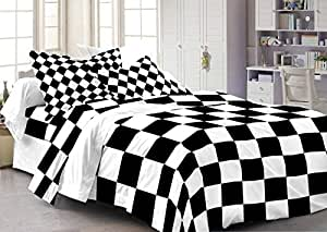 Cenizas 100% Cotton Double Bedsheet With 2 Pilow Covers( Mix & Match106 A )