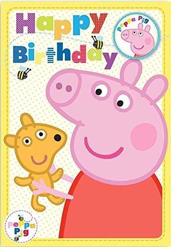 Peppa Pig Happy Birthday Karte mit Badge (Peppa Pig-happy Birthday)