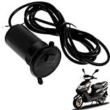 SMM Bike Charger With Cable Waterproof & Dustproof Electric Bike Cell Phone Charger With Cable Micro Usb B Type Pin-Ez270 Black