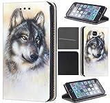 CoverHeld Hülle für Samsung Galaxy S5 Mini Premium Flipcover Schutzhülle aus Kunstleder Flip Case Motiv (1244 Wolf Grau)