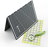 """Super Savvy Supplies Quilting Kit With A3 Cutting Mat- 45mm Rotary Cutter Knife- 6""""x12"""" Quilting Ruler Suitable For Paper, Card & Fabric Crafts. An Easy & Fun Arts & Craft Project Kit for Adults & Teens"""