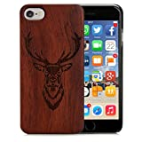 Arktis iPhone 6 6s Holzhülle Case Cover - Hirsch