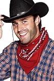 Cowboy-Halstuch Rot Western-Design, One Size