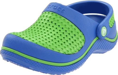Crocs Junior Crocsmesh Clog Seablue/Lime Mules And Clogs Sandal 12064-466-133 2 UK