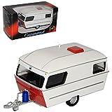 Cararama Anhänger Wohnwagen Weiss 1/43 Modell Auto