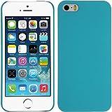 PhoneNatic Case für Apple iPhone 5 / 5s / SE Hülle blau vintage Hard-case für iPhone 5 / 5s / SE + 2 Schutzfolien
