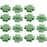Proto Cool 15 Stücke LC1M AC300V 8A 3,5mm Pitch 3 P PCB Terminal Block Draht Verbindung