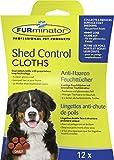Furminator Shed Control per Cani 12 Panni Cattura Peli, Bianco