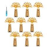KINGTOP LED Flaschenlichter Lichterketten Weinflaschen Lichter Flasche Mini-Lichterkette Flaschenbeleuchtung Stimmungslichter 120Leds Kupferdraht Licht Sternenlicht für Flasche DIY, Weihnachten Hochze