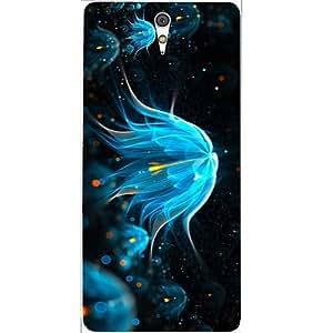Casotec Neon Glitter Design Hard Back Case Cover for Sony Xperia C5 Ultra Dual