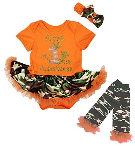 Petitebelle Baby Mädchen (0-24 Monate) Body orange Orange Gr. M, (Camo Baby Tutu)