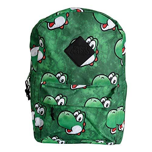 Nintendo NINTENDO Super Mario Bros. Yoshi Face Sublimation Print Backpack, Multi-colour (BP365318NTN) Mochila tipo casual, 28 cm, 20 liters, Varios colores (Multicolour)