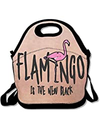 Xiisxin Flamingo Is The New Black Lunch Tote Bag - Large & Thick Insulated Tote - Suit For Men Women Kids