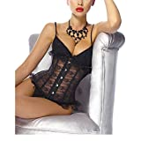 - 512A80jOItL - Damen Vintage Schwarz Underbust Taillen korsett Schnür Corsage