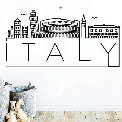 TYLPK Diy Art Italy Mapa Etiqueta pared Accesorios