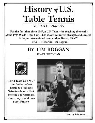 History of U.S. Table Tennis, Volume 21