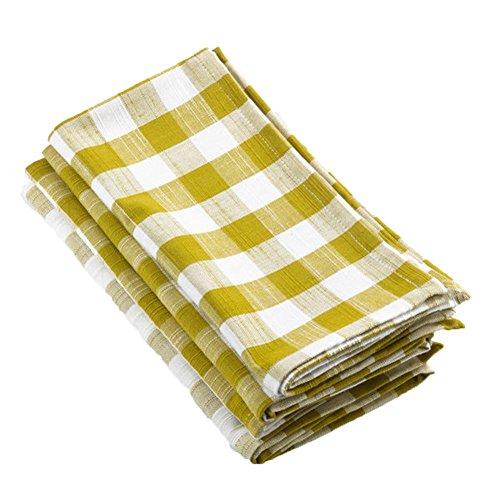 m Plaid Baumwolle Tischläufer und Servietten, 100 % Baumwolle, Hellgrün, 20