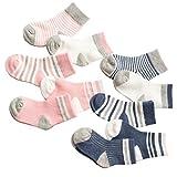Evedaily Chaussettes Antidérapantes en Coton Doux et Elastique Pour Bébé Fille Enfant Garçon Non-Glissement Confortable - Mixte Bébé 0-36 mois