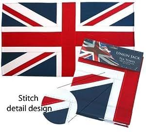 serviette th en coton lourd motif drapeau anglais ti cuisine maison. Black Bedroom Furniture Sets. Home Design Ideas