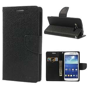 Mercury Goospery Flip Wallet Case Cover for Samsung Galaxy S Duos 7562- Black