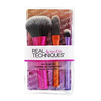 Técnicas real Pinceles de maquillaje Colección viaje Mini 3 Habitaciones