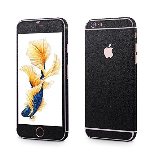 Apple iPhone 6 Plus, 6s Plus Sticker OKCS® Skin Folie Full Body Wrap Aufkleber Schutzfolie Protector in Leder Design in Lagerfeld Black