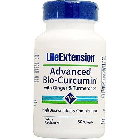 Life Extension Advanced Bio-Curcumin with Ginger & Turmerones, 30 Softgels (with Ginger & Turmerones, 30