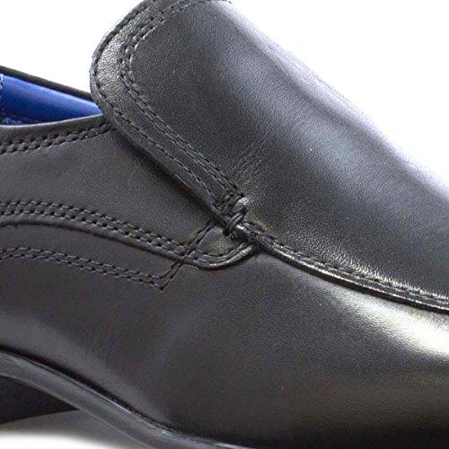 Red Tape Uomo - Zapatos Sin Cordones De Cuero Negros