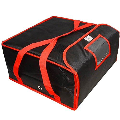 Pizza Delivery Bag 18x18x8.5 Professional Quality Fully Insulated Heavy Duty
