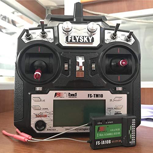 Navigatee RC Sender - FS-TM10 2.4G 10 CH Fernbedienung Multi Wings Sender mit Empfänger für Hubschrauber Fixed Wing Glider - Multi Glider