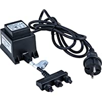 Heitronic 36340 - Adaptador eléctrico para luces de jardín tipo roca (36302, 36305 y 36307)